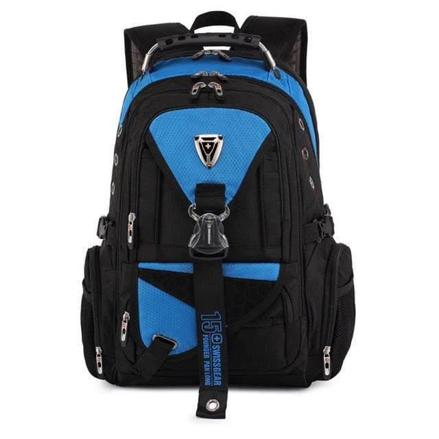 Backpack Swiss multi-functional 17 in waterproof - Blue / 17 Inches - Backpacp_Oct