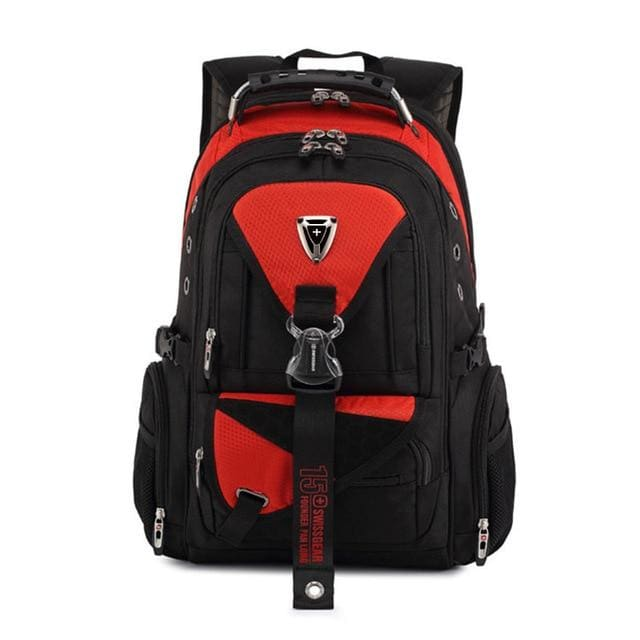 Backpack Swiss multi-functional 17 in waterproof - Red / 17 Inches - Backpacp_Oct