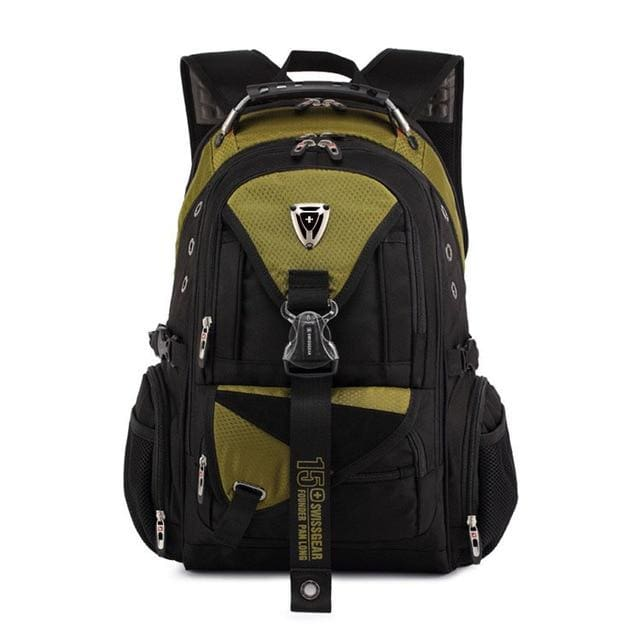 Backpack Swiss multi-functional 17 in waterproof - yellow / 17 Inches - Backpacp_Oct
