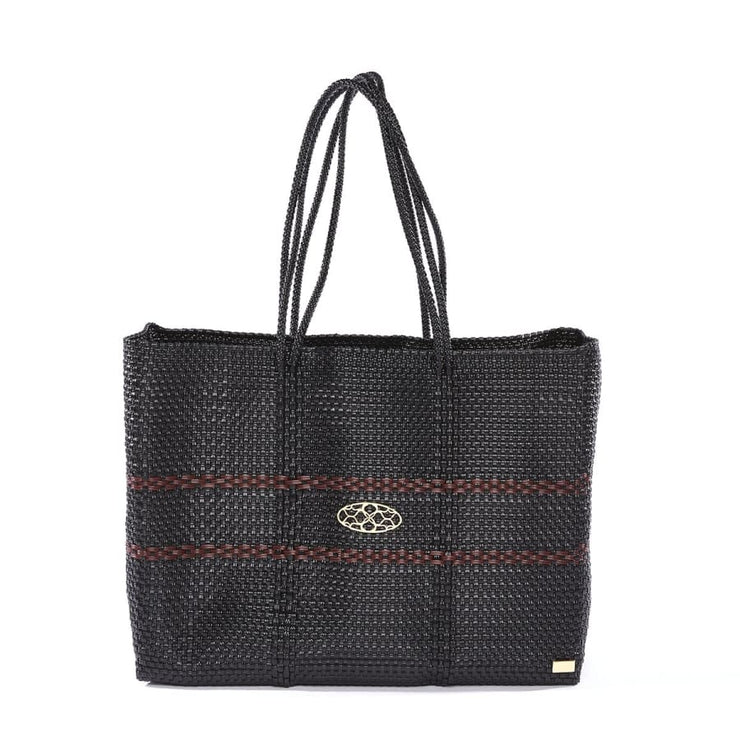 BURGUNDY BLACK TRAVEL TOTE WITH CLUTCH - Canvas_Tote_2020