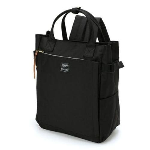 Canvas large school backpack - black / 38cm - Backpacp_Oct