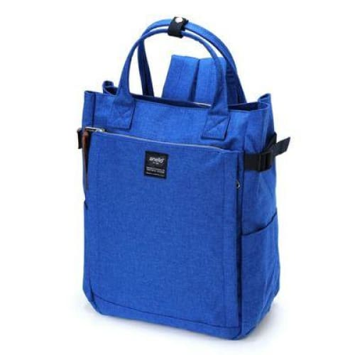 Canvas large school backpack - blue / 38cm - Backpacp_Oct