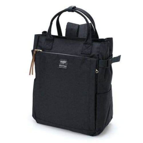 Canvas large school backpack - dark blue / 38cm - Backpacp_Oct