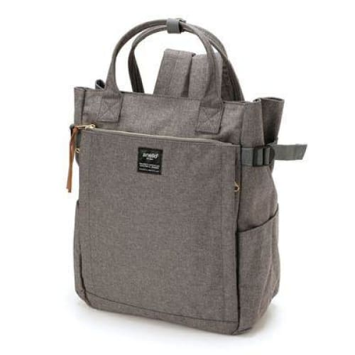 Canvas large school backpack - gray / 38cm - Backpacp_Oct