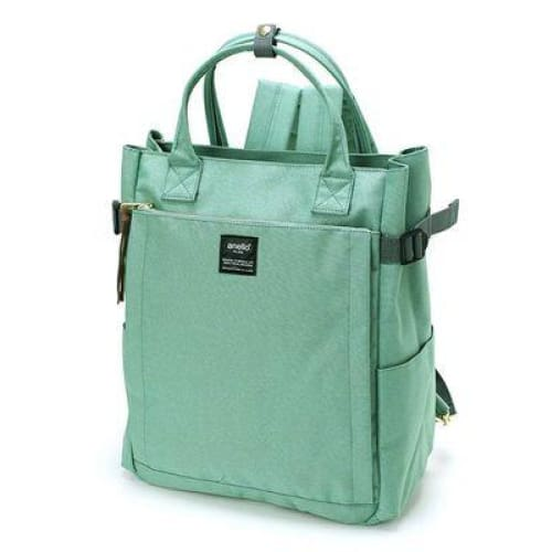 Canvas large school backpack - green / 38cm - Backpacp_Oct