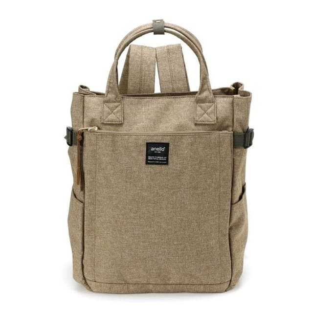 Canvas large school backpack - khaki / 38cm - Backpacp_Oct