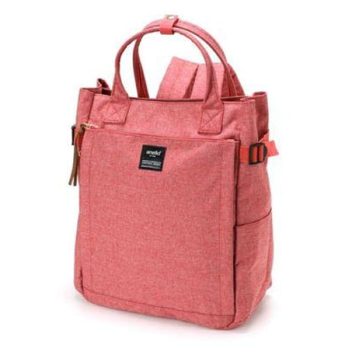 Canvas large school backpack - pink / 38cm - Backpacp_Oct
