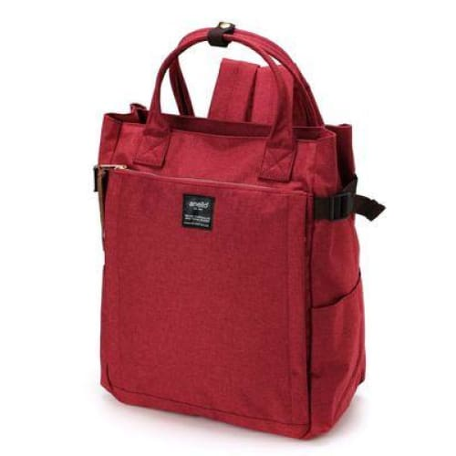 Canvas large school backpack - red / 38cm - Backpacp_Oct