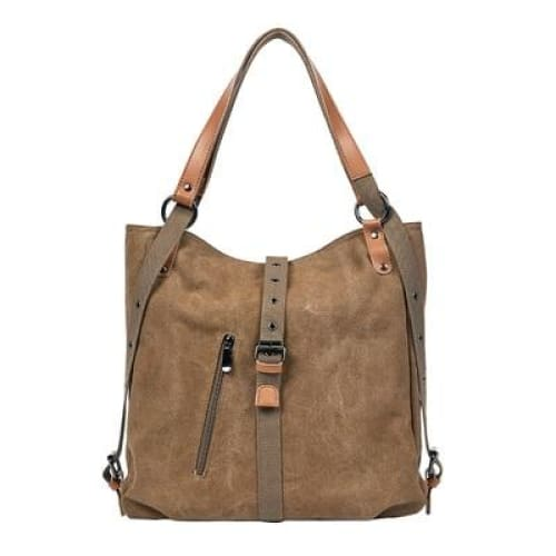 Canvas tote bag large capacity - Brown / 30x35x11cm - Canvas_Tote_2020