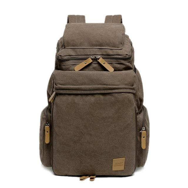 Casual mens backpack - Coffee - Backpacp_Oct
