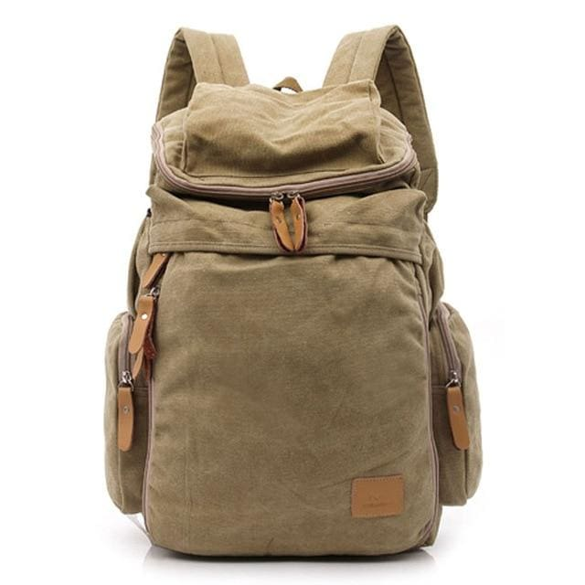 Casual mens backpack - Khaki - Backpacp_Oct