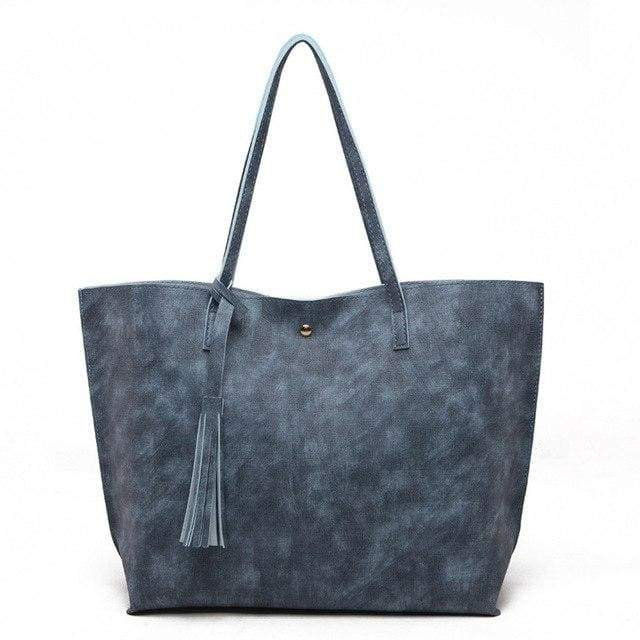 casual Tote Woman Fashion Bags pu Leather Tassel - Canvas_Tote_2020