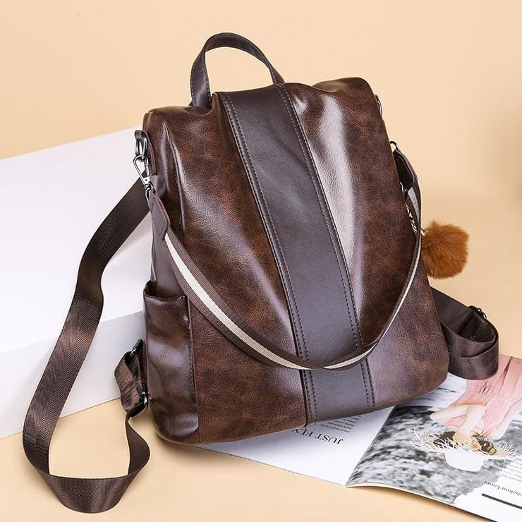 Classic backpack PU leather - Women_Bags