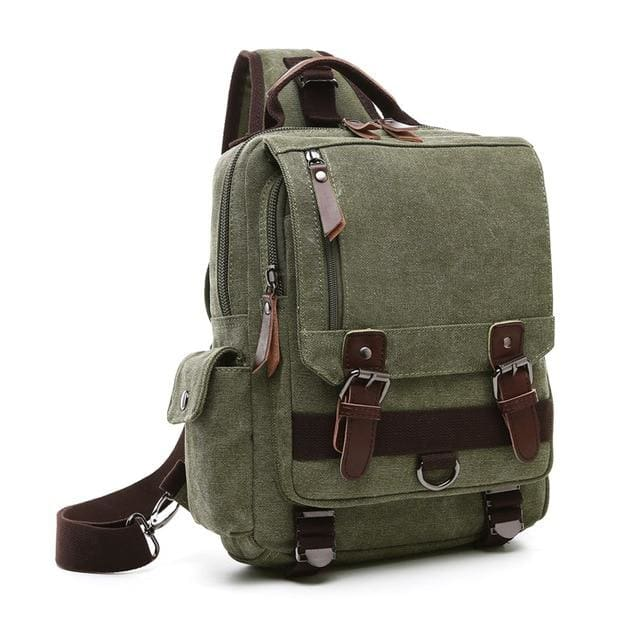 Crossbody Shoulder Bag Small - Army Green - Backpacp_Oct