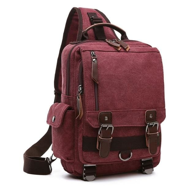 Crossbody Shoulder Bag Small - Burgundy - Backpacp_Oct