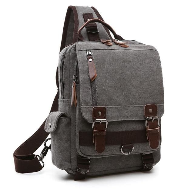 Crossbody Shoulder Bag Small - Gray - Backpacp_Oct