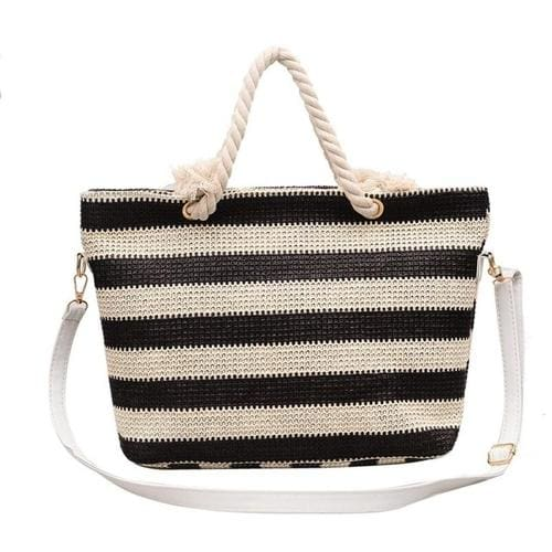 Fashion Women handbag Stripe Crossbody Bags Simple - 1 - Canvas_Tote_2020