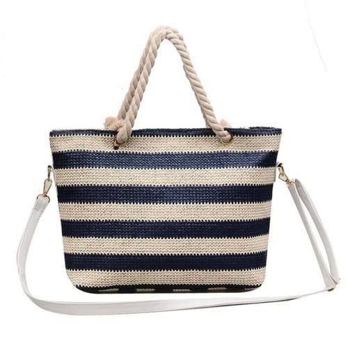 Fashion Women handbag Stripe Crossbody Bags Simple - 2 - Canvas_Tote_2020