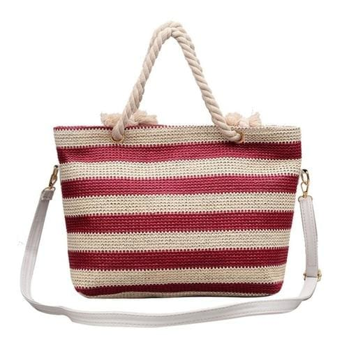 Fashion Women handbag Stripe Crossbody Bags Simple - 3 - Canvas_Tote_2020