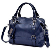 Glorria Handbag Women Boston Messenger Shoulder Bag - Blue / 27x13x21cm