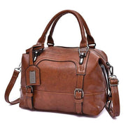 Glorria Handbag Women Boston Messenger Shoulder Bag - Brown / 27x13x21cm