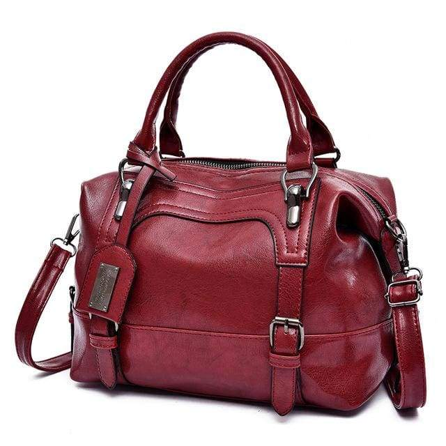 Glorria Handbag Women Boston Messenger Shoulder Bag - Red / 27x13x21cm