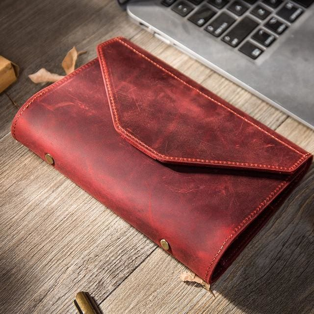 Handmade creative bullet journal planner - red / A5 23X19.5 cm - wallet