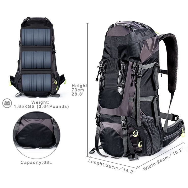 Hiking Backpacks 6v 20-watt solar powered backpack - Solar backpack