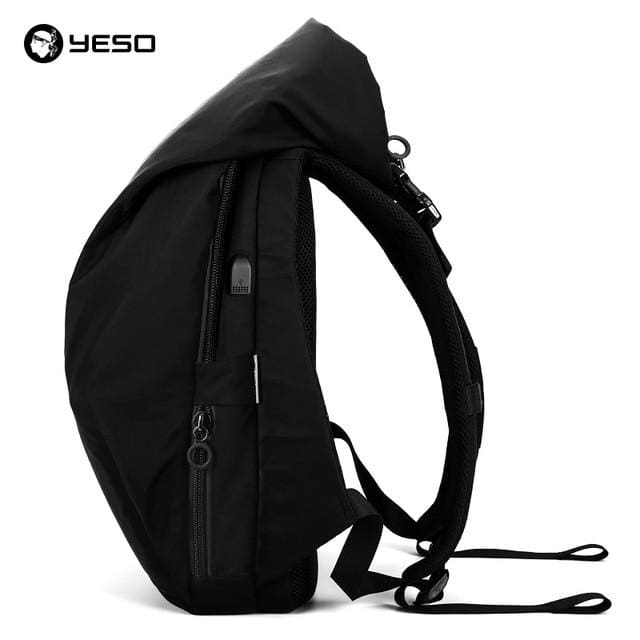 Laptop backpack fashion large capacity - Black No Hat / 18 inch 32X12X48cm - Backpacp_Oct