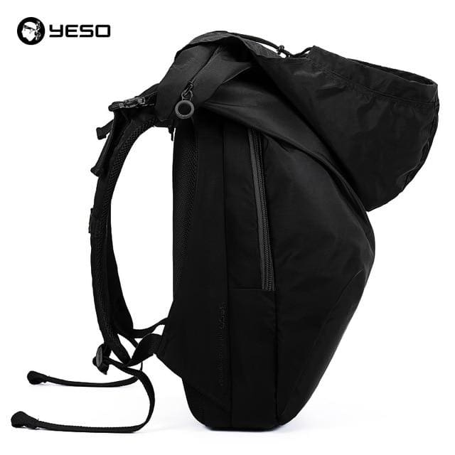 Laptop backpack fashion large capacity - Black With Hat / 18 inch 32X12X48cm - Backpacp_Oct