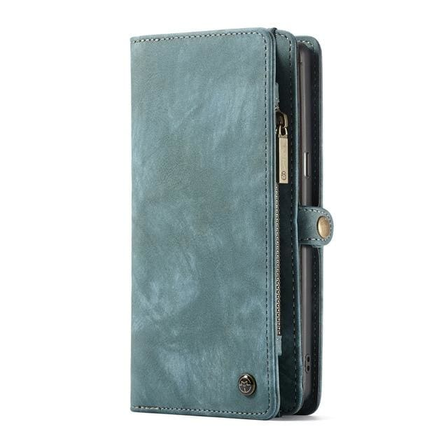 Leather fundas wallet case - for Galaxy Note 8 / Blue - wallet