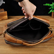 Male shoulder messenger bag cowhide - Men_Briefcase