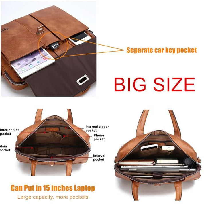 Man briefcase big size 15 inches laptop bags - Men_Briefcase
