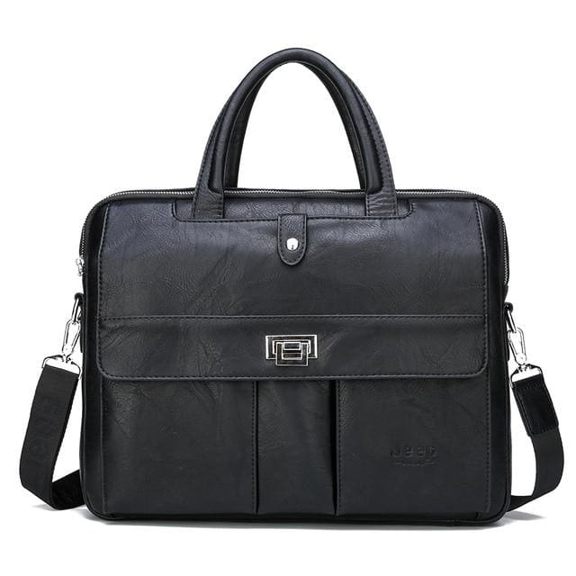 Man briefcase big size 15 inches laptop bags - Only Bag Black - Men_Briefcase