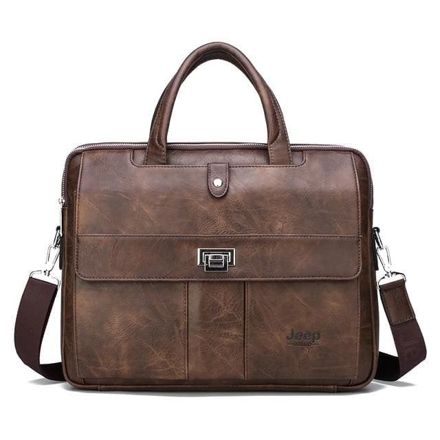 Man briefcase big size 15 inches laptop bags - Only Bag Brown - Men_Briefcase