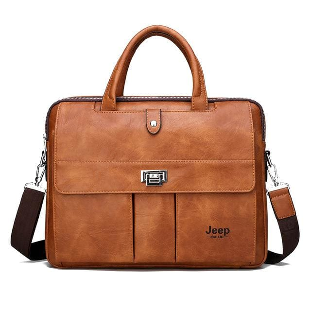 Man briefcase big size 15 inches laptop bags - Only Bag Orange - Men_Briefcase