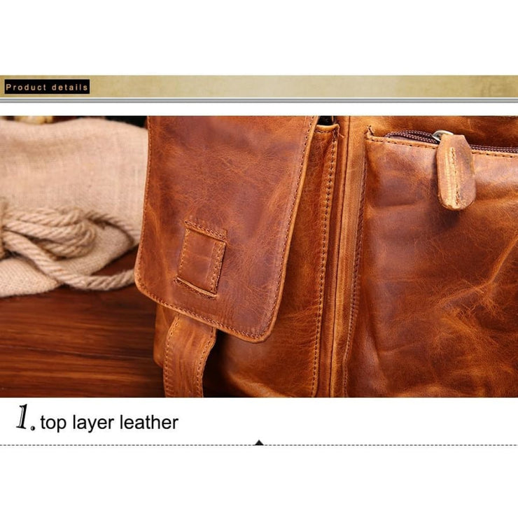 Men briefcase leather business bag