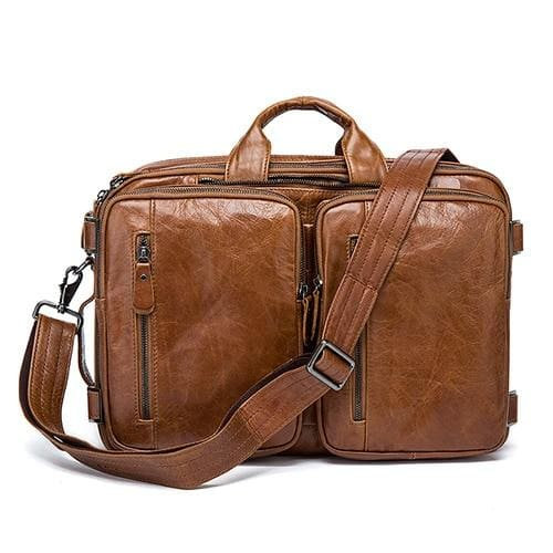 Men briefcase messenger bag laptop bags - 432brown - Men_Briefcase