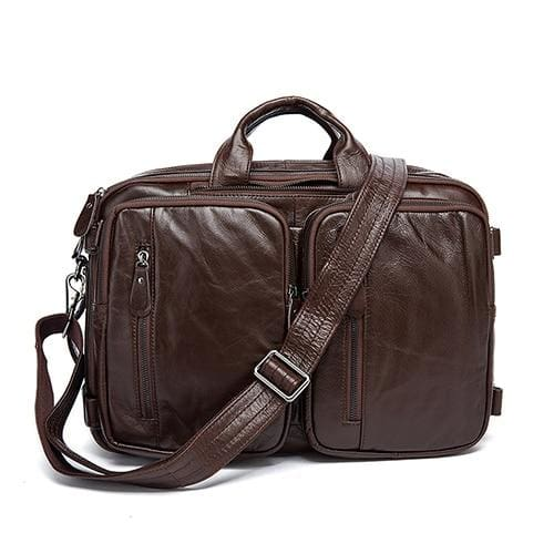 Men briefcase messenger bag laptop bags - 432deep coffee - Men_Briefcase
