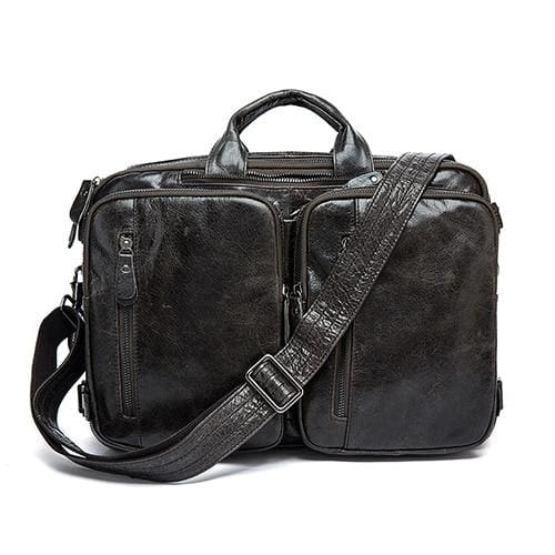 Men briefcase messenger bag laptop bags - 432gray - Men_Briefcase