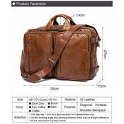 Men briefcase messenger bag laptop bags