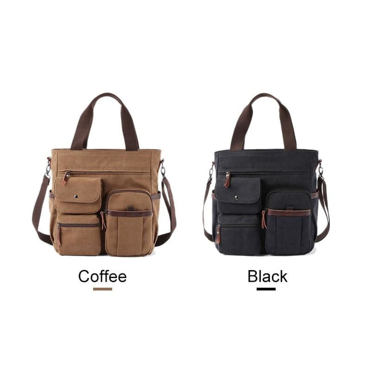 Men large canvas tote waterproof bags - Men_Briefcase