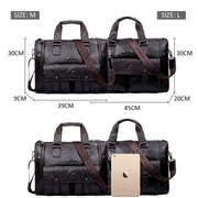 Men leather black briefcase business messenger bags