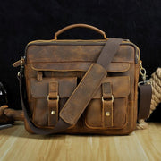 Men real leather antique style coffee briefcase