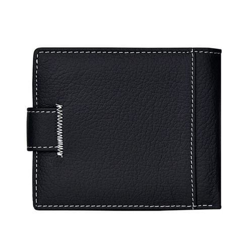 Men Wallets Short Bifold Business Leather Wallet - 1 - Wallets