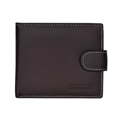 Men Wallets Short Bifold Business Leather Wallet - 2 - Wallets