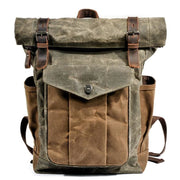 Oil wax canvas leather backpack - Backpacp_Oct
