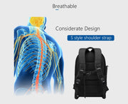 Backpack USB Charging School Bag Men 15.6 Waterproof Backpacks