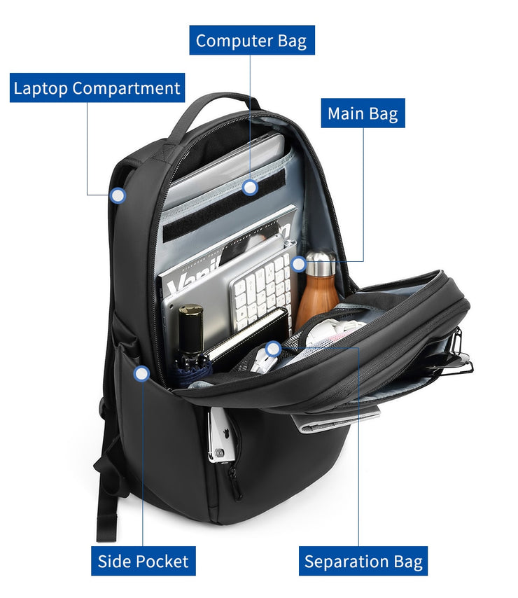 "Backpack Large Capacity Waterproof 15.6"" Laptop Backpack"
