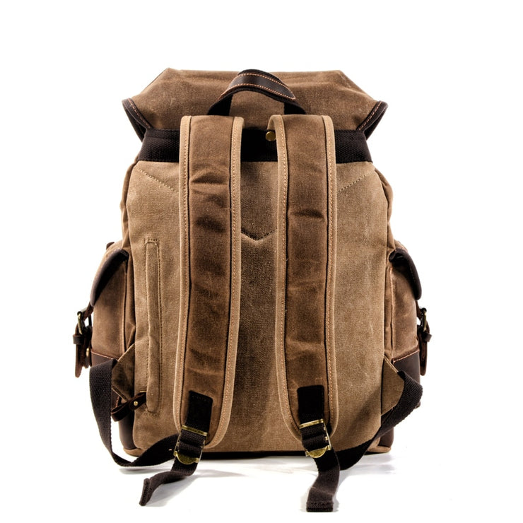 Cotton Oil Wax Canvas Backpack